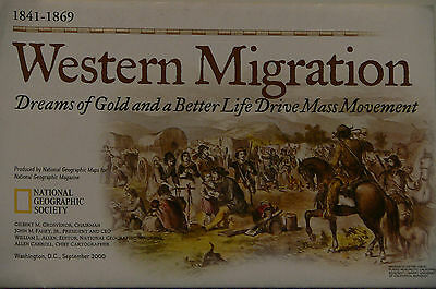 Vintage 2000 National Geographic Map of Western Migration