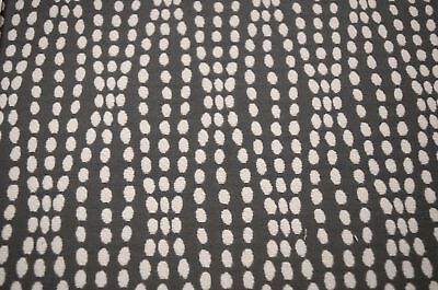 Dark Grey Polka Dot Upholstery Strands Charcoal Waverly Fabric ()