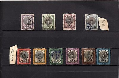 PERSIA - PERSE - COMPLETE SET OF POSTALLY USED OVERPRINTED STAMPS  LOT (PER-233)