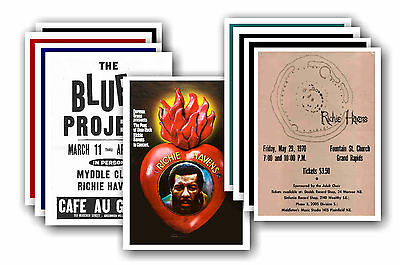 RICHIE HAVENS  - 10 promotional posters - collectable postcard set # 1