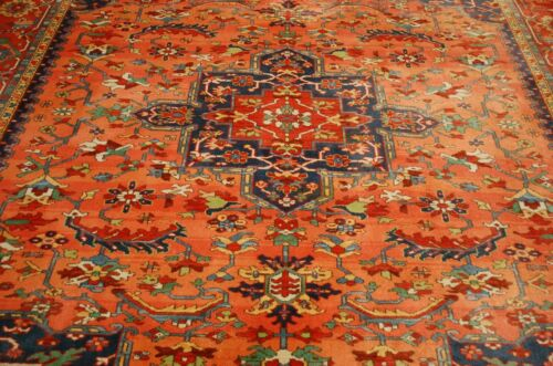 Mint Authentic American Karastan Medallion Serapi Pattern #736 Rug 8.8x10.6