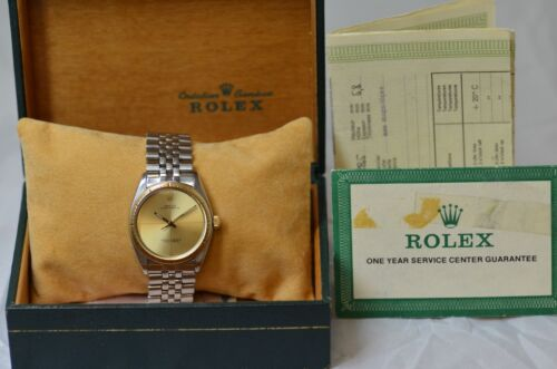$2350.00 - ROLEX ZEPHYR OYSTER PERPETUAL VINTAGE REF. 1008 MENS DRESS WATCH W/ BOX & PAPERS