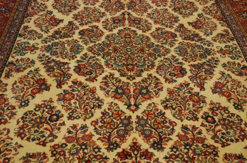 C1930s Antique Room Size Persian Sarouk Rug 8.2x11.6  Kork Wool_high Kpsi