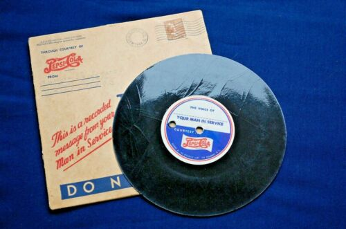 WWII Original Soldier's Recorded Message and Mailer Courtesy of Pepsi-Cola