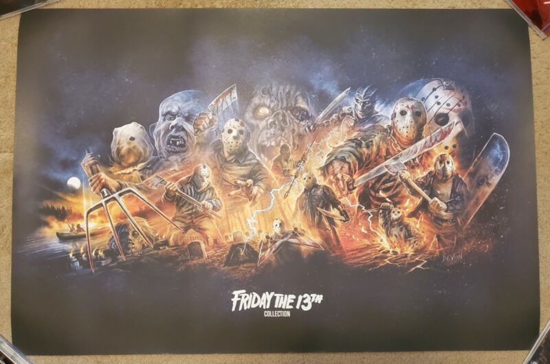 Friday the 13th Shout Factory POSTER AND LITHO ONLY New Rolled 24x36 OOP