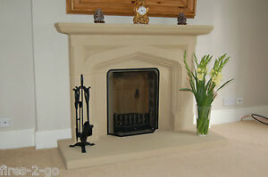 NEW - SANDSTONE FIRE SURROUND   / STONE FIREPLACE / FIRE PLACE SURROUND