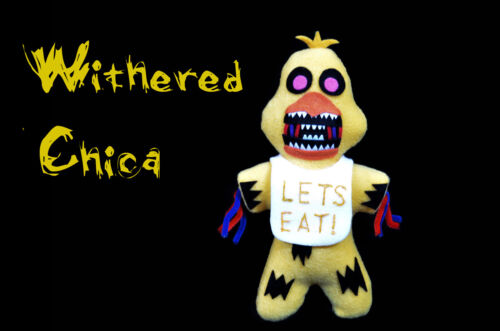 Withered Chica (Handmade Plush) Fnaf Plushie by Jusmade