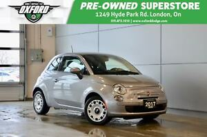 2017 Fiat 500 Pop - One Owner, Gold Plan Warranty, Rust Protecti