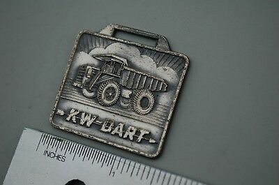 Kw Dart Rear Dump Truck Haul Rock Quarry Mining Coal Vintage Watch Fob Brass