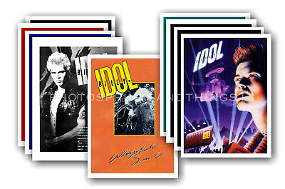 BILLY IDOL  - 10 promotional posters - collectable postcard set # 2