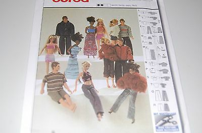 Burda Pattern # 8576 - Fashion Barbie & Ken Doll Clothes - 12 Outfits - NEW](Adult Barbie Doll Costume)