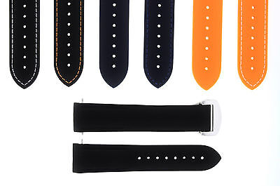 20-22MM RUBBER DIVER STRAP BAND OMEGA SEAMASTER PLANET OCEAN CLASP CURVED END - Omega Rubber Band