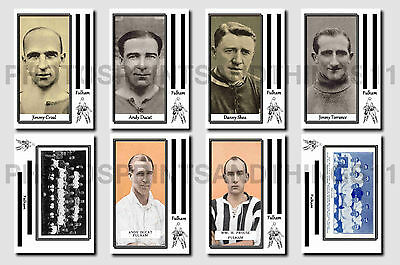 FULHAM - CIGARETTE CARD HISTORY 1900-1939 - Collectable postcard set # 2