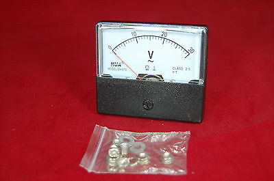 Ac 0-30v Analog Voltmeter Analogue Voltage Panel Meter 6070mm Directly Connect