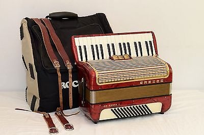 Hohner Concerto II 72 BASS ACCORDION/EXCELLENT CONDITION/DHL WORLDWIDE SHIPPING