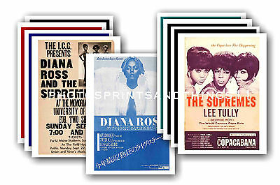 Diana Ross  - 10 promotional posters - collectable postcard set # 1