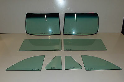 1949 1950 1951 1952 CHEVROLET CONVERTIBLE COMPLETE GLASS SET GREEN TINT