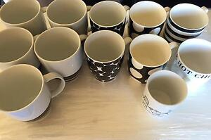 10 x Various Black + White MUGS. Botany Botany Bay Area Preview