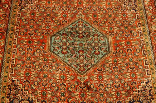 C1920s Antique Master Piece Prsian Bijar Rug 4x5.4 High Kpsi Fine Kork Wool