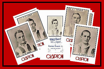 CLAPTON FC - RETRO 1920's STYLE - NEW COLLECTORS POSTCARD SET