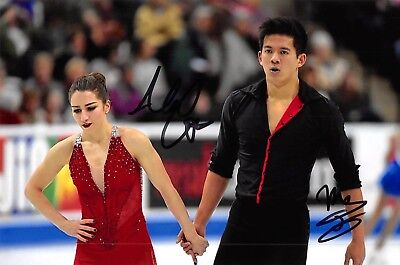 Marissa Castelli / Mervin Tran - USA - Eiskunstlauf - Foto signiert (2)