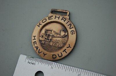 Koehring 505 Skooper Heavy Duty Trackhoe Excavator Crawler Watch Fob Copper