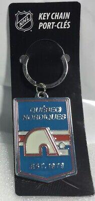 Vintage QUEBEC NORDIQUES Keyring NHL LNH Hockey Ancien Porte-Clés Keychain NWT !