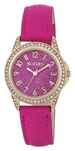 Tikkers Pink Glitter Dial Girls Watch/ Designer Style/ Christmas Party Bag Gifts