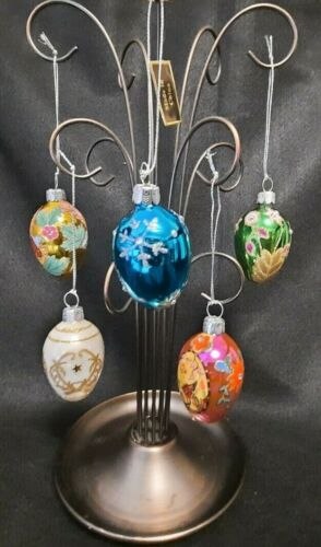 NIB w/ QVC UPC Rare Exquisite 5 Pk./Joan Rivers Faberge ornaments Retired 2011