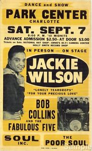 Vintage Jackie Wilson Northern Soul/Soul Music Concert Poster A4 Reprint