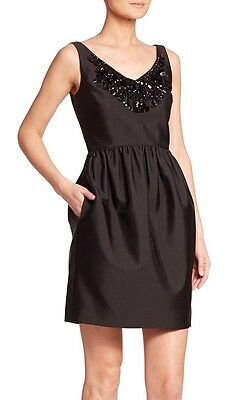 Kate Spade New York Women's Dress Size 8 Black Embellished Cupcake Cocktail LBD