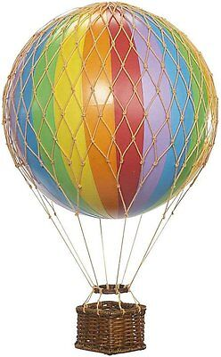 Floating Skies Hot Air Balloon Model Rainbow Aviation Collectible Decorative New