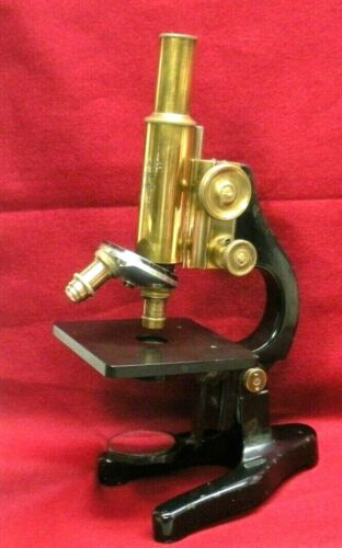 ANTIQUE/VINTAGE LEICA LEITZ BRASS MICROSCOPE..NICE FOR DISPLAY