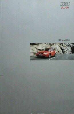 Audi  S3 Quattro Sales Brochure - February 1999