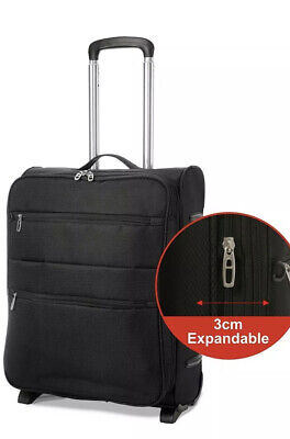 EONO Expandable 55x40x20cm to 55x40x23cm Lightweight Cabin Luggage Suitcase
