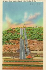 CARTE-POSTALE-ETATS-UNIS-USA-MONONGAHELA-INCLINE-SOUTH-SIDE-PITTSBURGH