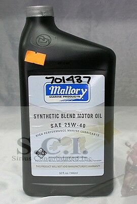 MALLORY HIGH PERFORMANCE SILVER SYNTHETIC BLEND FC-W 4-STROKE ENGINE OIL 25W40