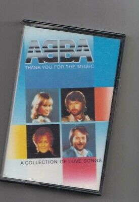 ABBA  THANK YOU FOR THE MUSIC  A COLLECTION OF LOVE SONGS   CASSETTE TESTED