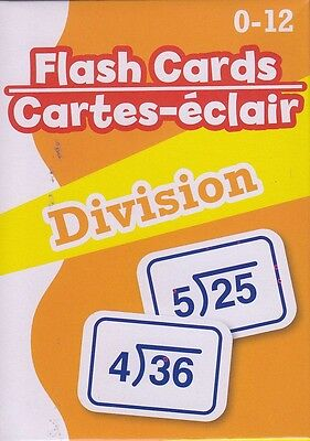 NEW Math Flash Cards (52 cards) ~ Division    FREE SHIPPING