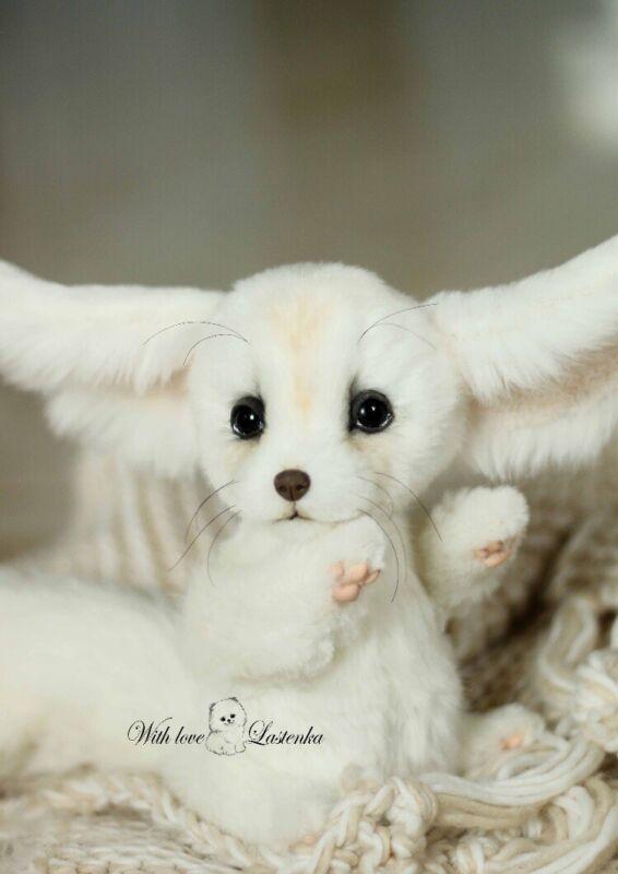 Lastenka Handmade Realistic Collectible Reborn Stuffed Animal Fennec Fox