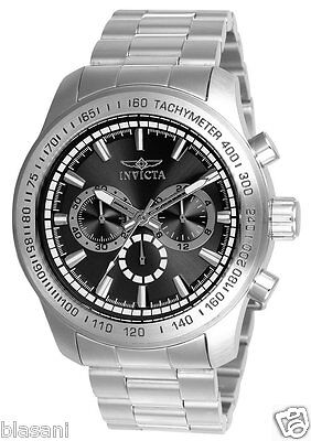 Invicta 21793 Speedway Men's Stainless Steel Black Dial 48mm Watch Chronograph