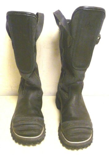 7 E Honeywell Pro Warrington Black Leather Firefighter Boots 5006 5006SG L166
