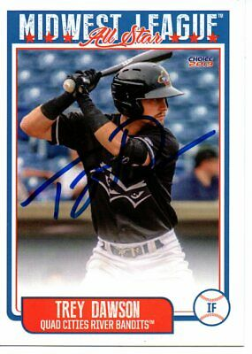 Trey Dawson 2019 Quad Cities Midwest League All Star Game Signed Card for sale  Shipping to Canada