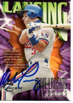 Mike Lansing Montreal Expos 1997 Circa Signed Card