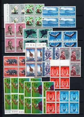 Belgisch Congo Belge Rep. Congo/Zaïre Clearout 18 blocs of 4 MNH all topics (L)