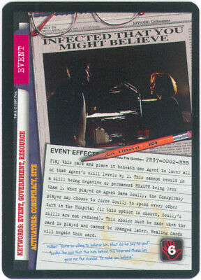 X-Files CCG PROMO CARD PR97-0002-BBB - INFECTED THAT YOU MIGHT BELIEVE 1997 UR X-files Trading Card