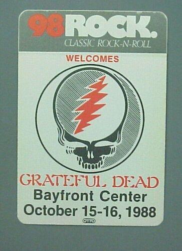 Grateful Dead satin cloth radio promo sticker AUTHENTIC Bayfront 1988 !