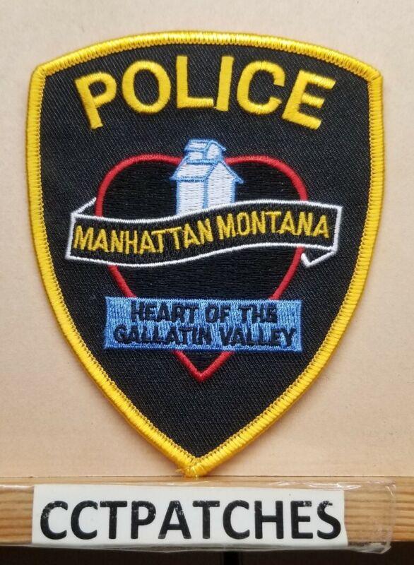 MANHATTAN, MONTANA POLICE SHOULDER PATCH MT