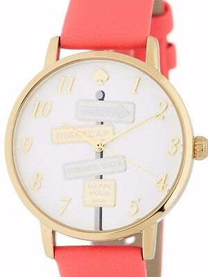 NWT Kate Spade New York Women's Metro Leather Watch Pink Gold KSW1127