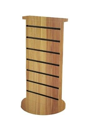 2-sided Slatwall Counter Spinner Display Rack Gifts Display Jewelry Rack Stand